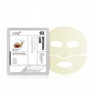 Гидрогелевая маска с экстрактом улитки и красного женьшеня Llang, 25 мл: фото