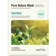 Маска для лица тканевая Anskin Secriss Pure Nature Mask Pack-Teatree 25мл: фото